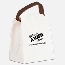 Funny Amish Canvas Lunch Bag