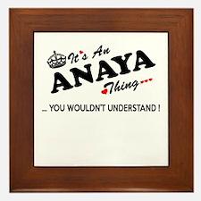 Unique Anaya Framed Tile