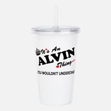 Unique Alvin Acrylic Double-wall Tumbler