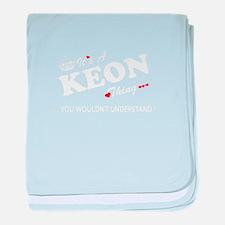 Cute Keon baby blanket