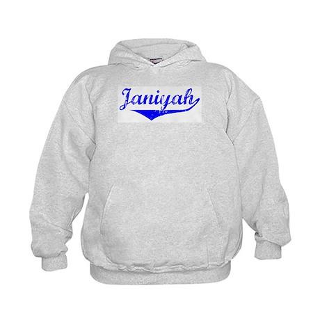 Janiyah Vintage (Blue) Kids Hoodie