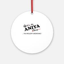 Cute Aniya Round Ornament
