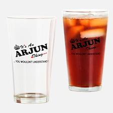 Funny Arjun Drinking Glass
