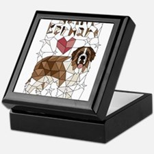 Geometric Saint Bernard Keepsake Box