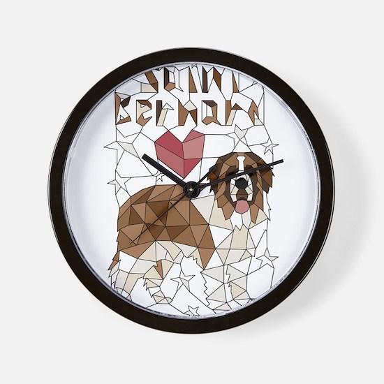 Geometric Saint Bernard Wall Clock