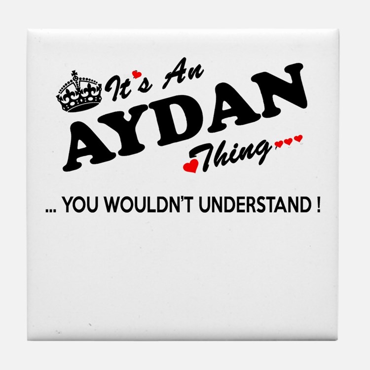 Cute Aydan Tile Coaster