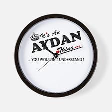 Cute Aydan Wall Clock