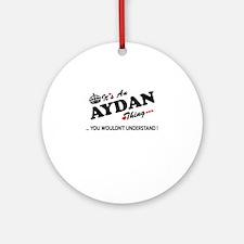 Unique Aydan Round Ornament