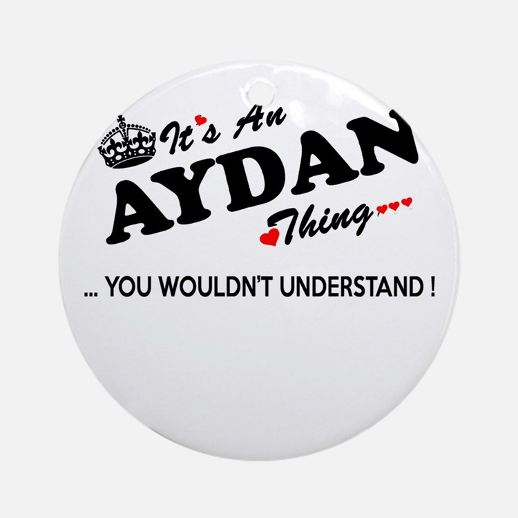 Cute Aydan Round Ornament