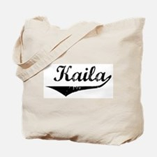 Kaila Vintage (Black) Tote Bag
