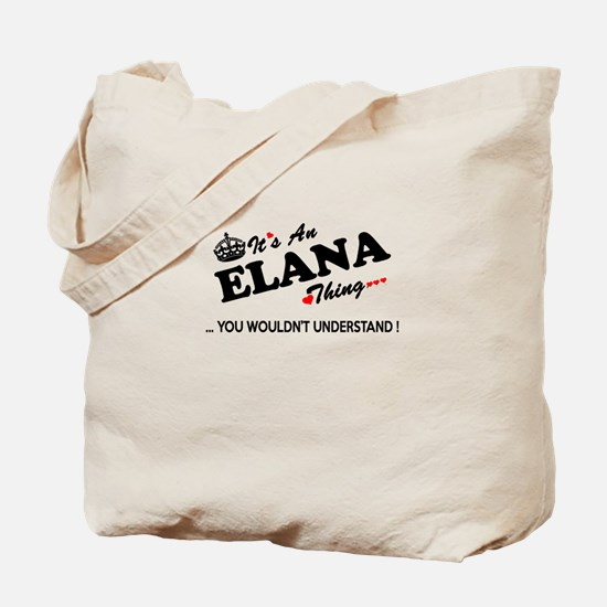Funny Elana Tote Bag