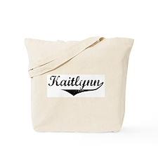 Kaitlynn Vintage (Black) Tote Bag