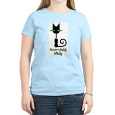 Purrrr~fectly Witchy! Women's Pink T-Shirt