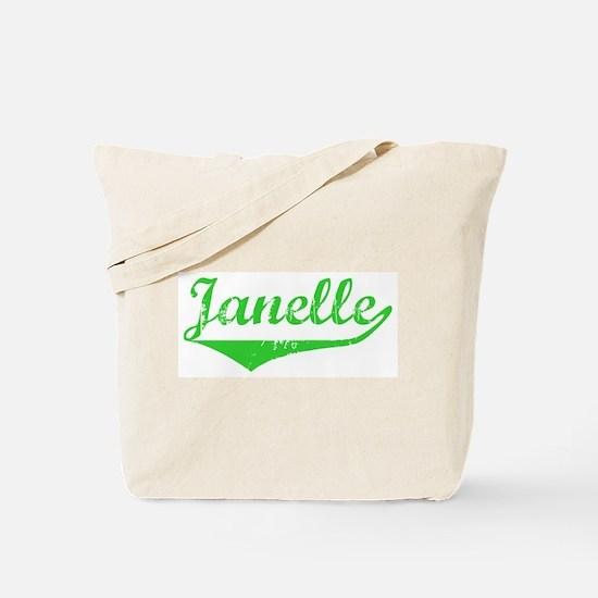 Janelle Vintage (Green) Tote Bag