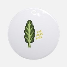 Eat More Kale Round Ornament