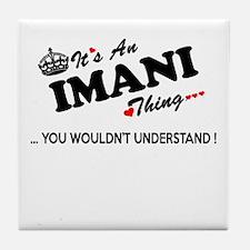 Cute Imani Tile Coaster