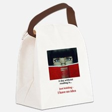 Funny Reading Canvas Lunch Bag
