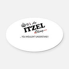 Unique Itzel Oval Car Magnet