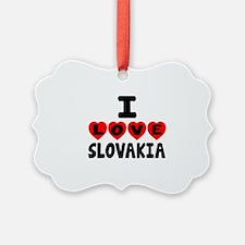 I Love Slovakia Ornament