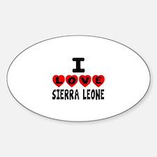 I Love Sierra Leone Decal