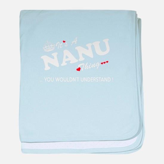 Cute Nanu baby blanket