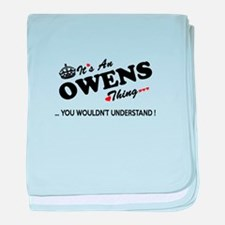 Cute Owen baby blanket