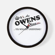 Cute Owen Wall Clock