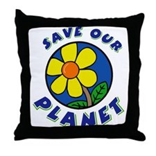 Save Our Planet Throw Pillow