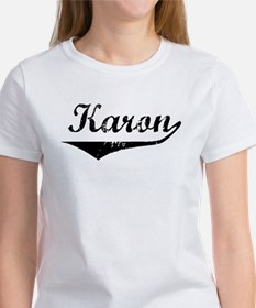 Karon Vintage (Black) Women's T-Shirt