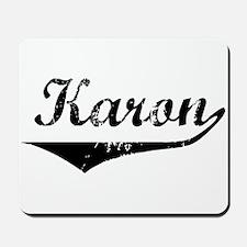 Karon Vintage (Black) Mousepad