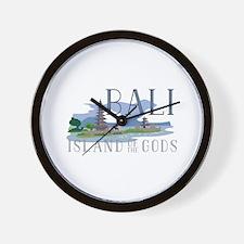 Bali Island Of Gods Wall Clock