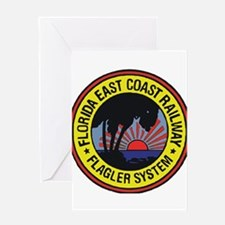 Florida East Coast Railway logo Greeting Cards