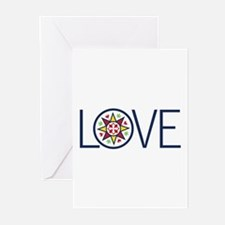 Love Decal Greeting Cards