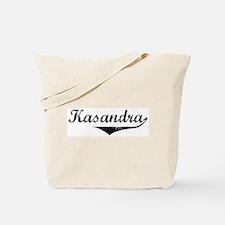 Kasandra Vintage (Black) Tote Bag