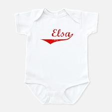 Elsa Vintage (Red) Infant Bodysuit
