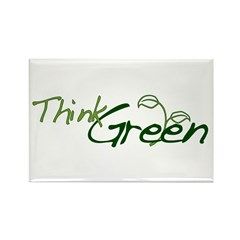Think Green Rectangle Magnet (100 pack)