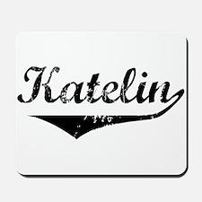 Katelin Vintage (Black) Mousepad