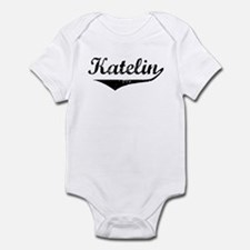 Katelin Vintage (Black) Infant Bodysuit