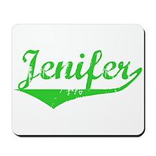 Jenifer Vintage (Green) Mousepad