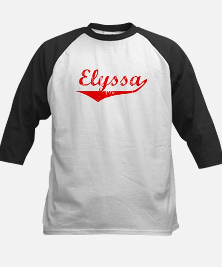 Elyssa Vintage (Red) Kids Baseball Jersey