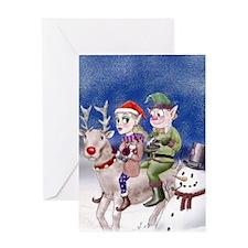 Christmas Elvies Greeting Card