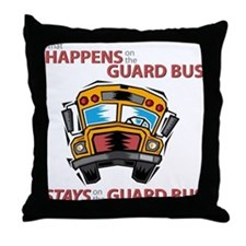 What Happens on the Guard Bus Throw Pillow