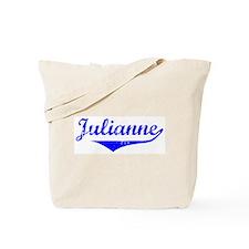 Julianne Vintage (Blue) Tote Bag