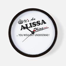 Cute Alissa Wall Clock