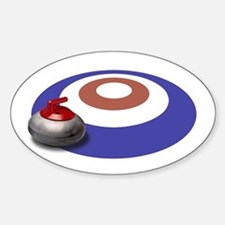 CURLING Oval Bumper Stickers