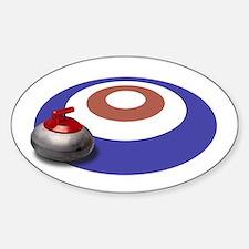 CURLING Oval Bumper Stickers