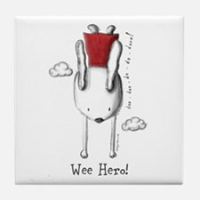 Every Bunny Can Be A Hero! Tile Coaster