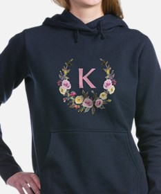 Watercolor Floral Wreath Monogram Sweatshirt