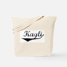 Kayli Vintage (Black) Tote Bag