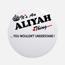 Cute Aliyah Round Ornament